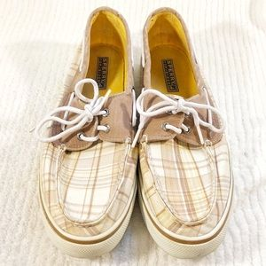 🔥HOT BUY🔥 SPERRY Top-Sider Plaid Boat Shoes sz8